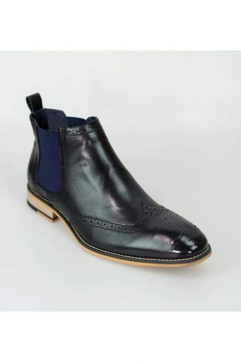 Cavani Hound Black Mens Leather Boots - Boots