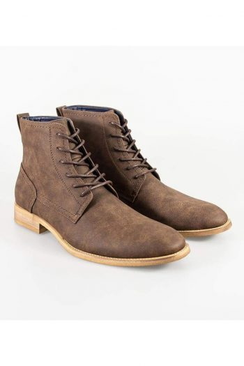 Cavani Huricane Brown Mens Leather Boots - UK7 | EU41 - Boots
