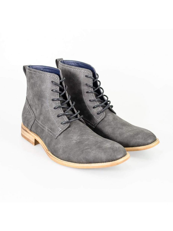 Cavani Huricane Grey Mens Leather Boots - UK7   EU41 - Boots