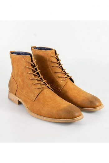 Cavani Huricane Tan Mens Leather Boots - UK7 | EU41 - Boots