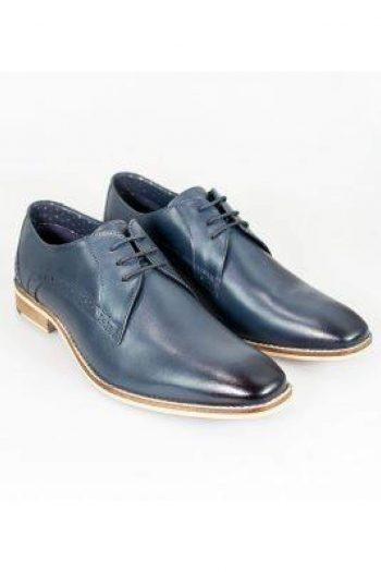 Cavani John Navy Mens Leather Shoes - UK6   EU40 - Shoes