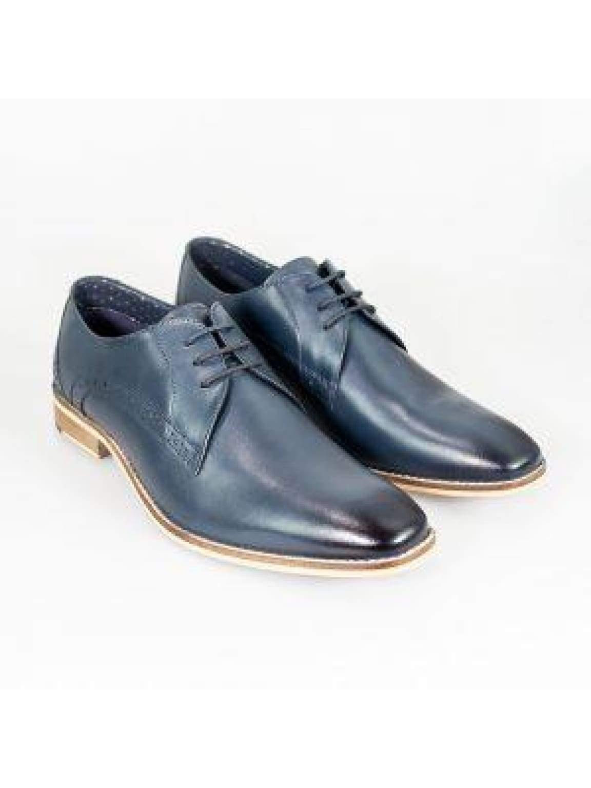 Cavani John Navy Mens Leather Shoes - UK6 | EU40 - Shoes