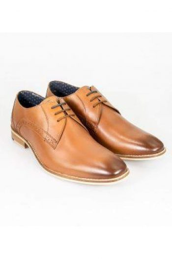 Cavani John Tan Mens Leather Shoes - UK6 | EU40 - Shoes
