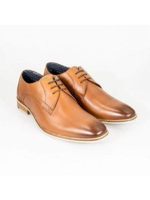 Cavani John Tan Mens Leather Shoes - UK6 | EU40 - Shoes