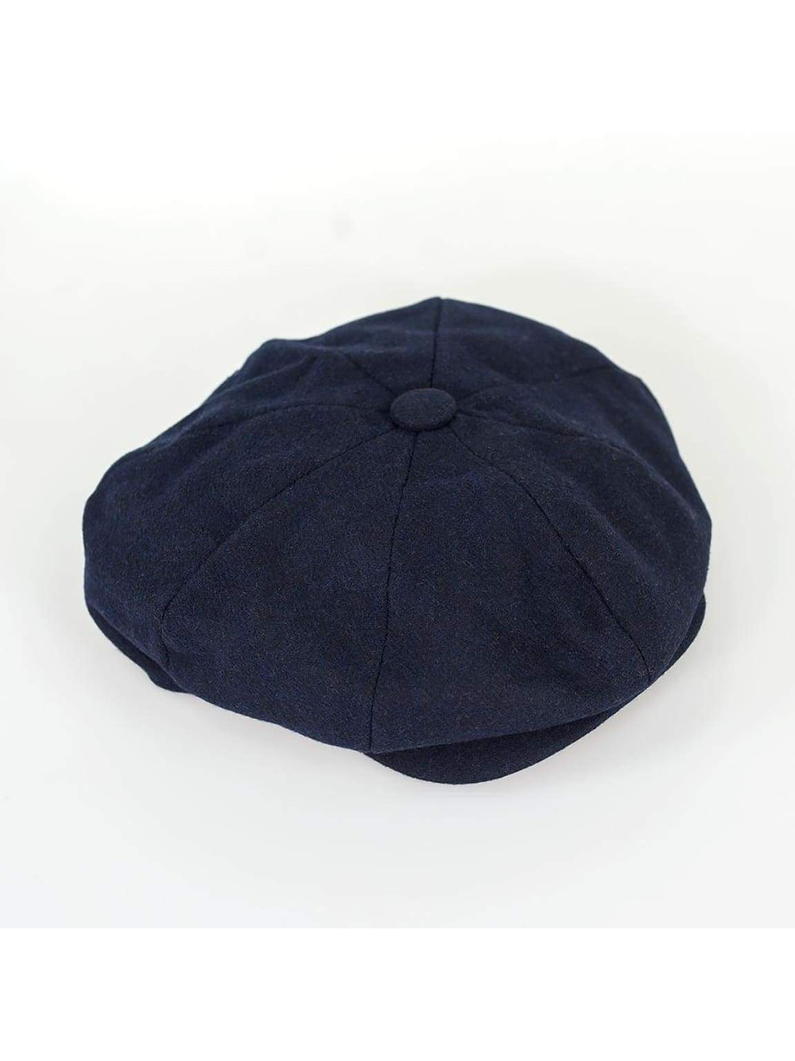 Cavani Kyra Navy Baker Boy Style Flat Cap - S/M - Accessories