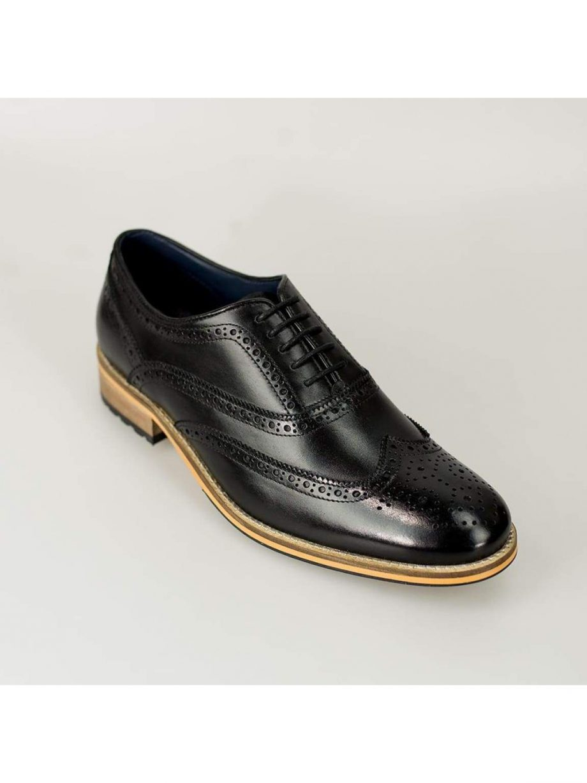 Cavani Lake Mens Black Leather Shoes - Shoes