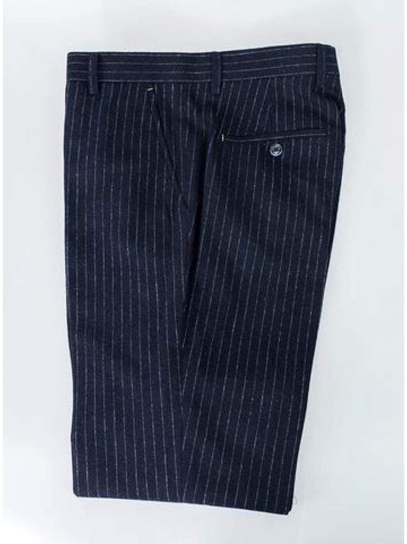 Cavani Lopez Navy Pin Stripe Trousers - Suit & Tailoring