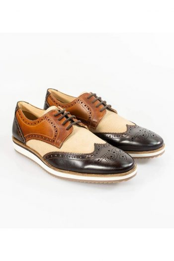 Cavani Mandu Brown/Tan Mens Shoe - Shoes