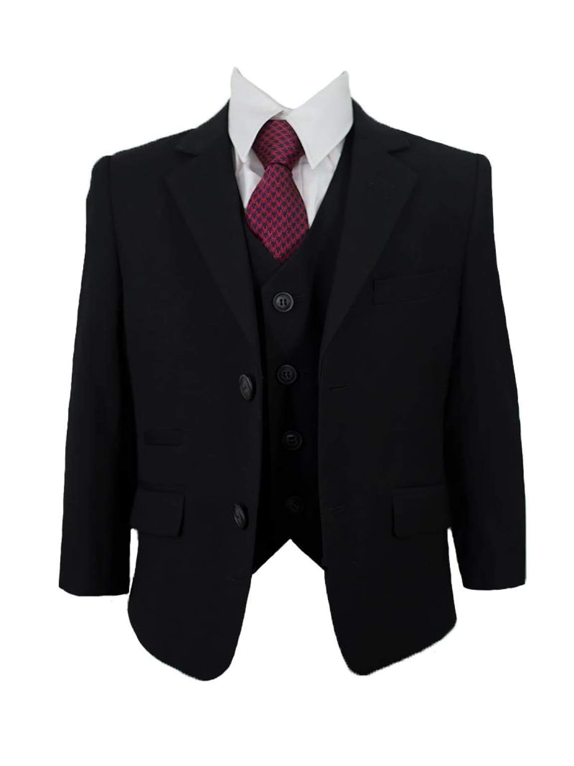 Cavani Marco Boys Three Piece Black Slim Fit Suit - Suit & Tailoring