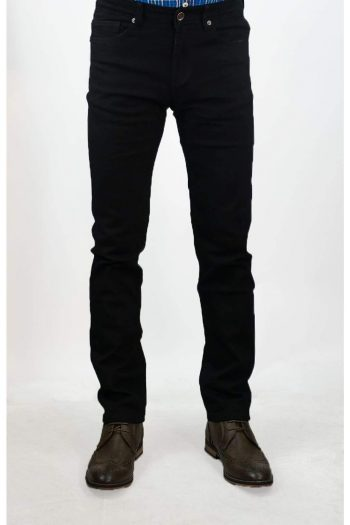 Cavani Milano Black Stretch Denim Jeans - Jeans