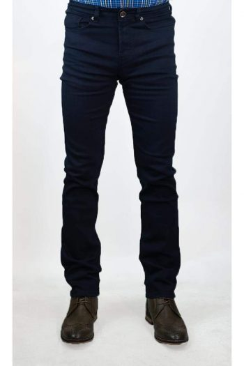 Cavani Milano Navy Stretch Denim Jeans - Jeans