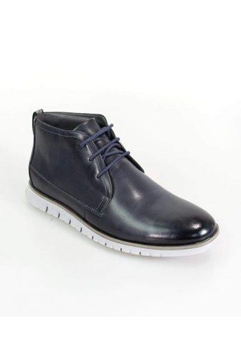 Cavani Napal Navy Mens Leather Boots - UK7 | EU41 - Boots