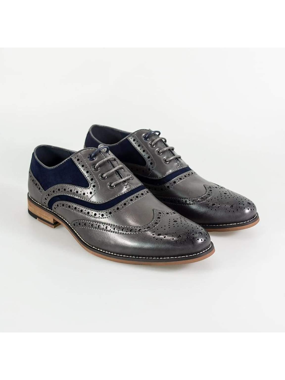 Cavani New Ethan Mens Grey/Navy Shoe - Shoes