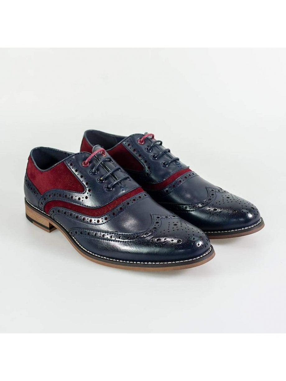 Cavani New Ethan Mens Navy/Red Shoe - UK7 | EU41 - Shoes
