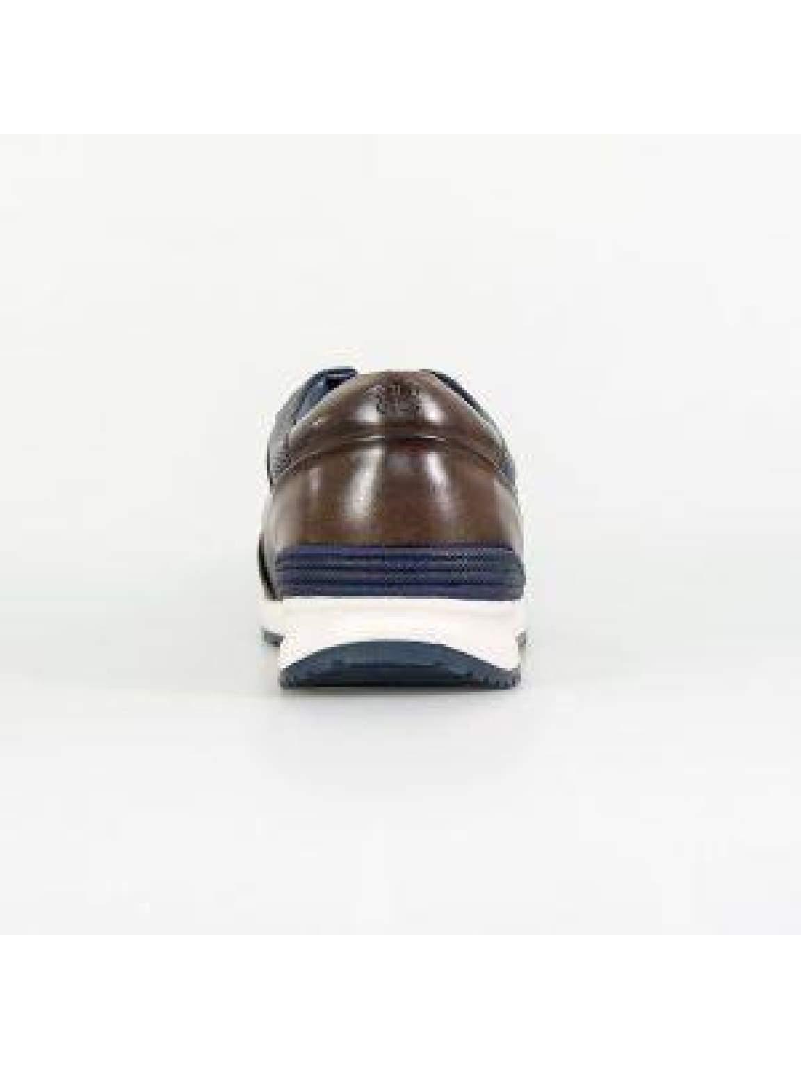 Cavani Portland Navy/Brown Trainers - Shoes