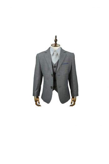 Cavani Reegan Boys Three Piece Grey Slim Fit Suit - 1 YEAR - Suit & Tailoring
