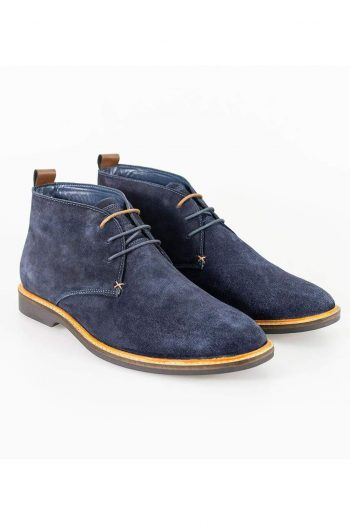Cavani Sahara Navy Mens Leather Boots - Boots