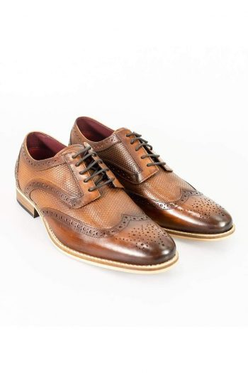 Cavani Tommy Brown Mens Leather Shoes - UK7 | EU41 - Shoes