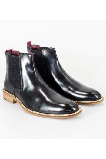 Cavani Watson Black Mens Leather Boots - UK6 | EU40 - Boots
