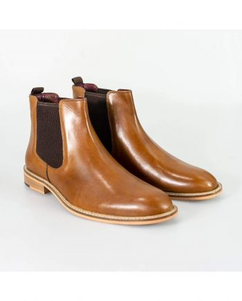 Cavani Watson Tan Mens Leather Boots - UK6 | EU40 - Boots