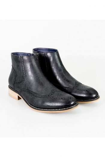 Cavani Westland Black Mens Leather Boots - UK7 | EU41 - Boots
