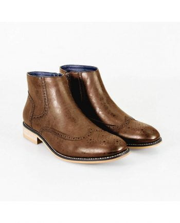 Cavani Westland Tan Mens Leather Boots - UK7 | EU41 - Boots
