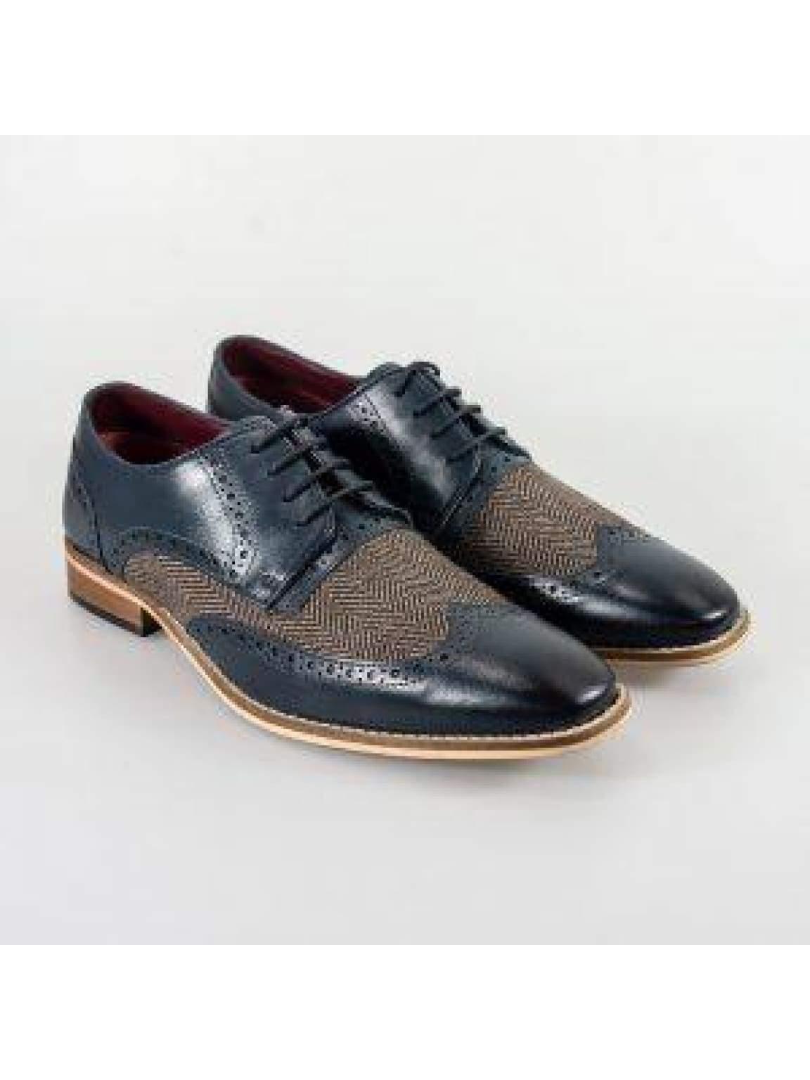 Cavani William Grey/Blue Mens Shoes - UK7 | EU41 - Shoes