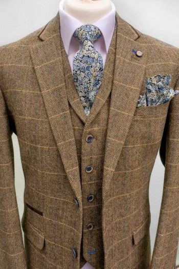 Classic Brown Tweed Suit
