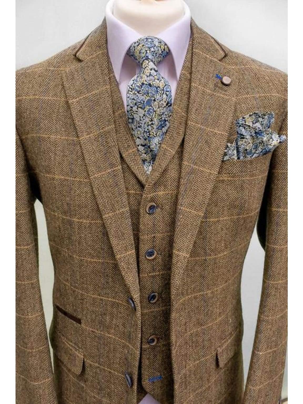 Classic Brown Tweed Suit