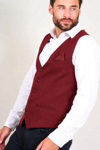 Copy of Marc Darcy Kelly Mens Tan Single Breasted Waistcoat - Suit & Tailoring