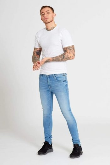 Drax Light Blue Super Skinny Jeans - Jeans