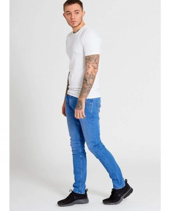 GAMMA Slim Fit Jeans In Intense Blue Wash - Jeans