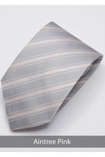 Heirloom Aintree Mens Pink Stripped Tie - Accessories
