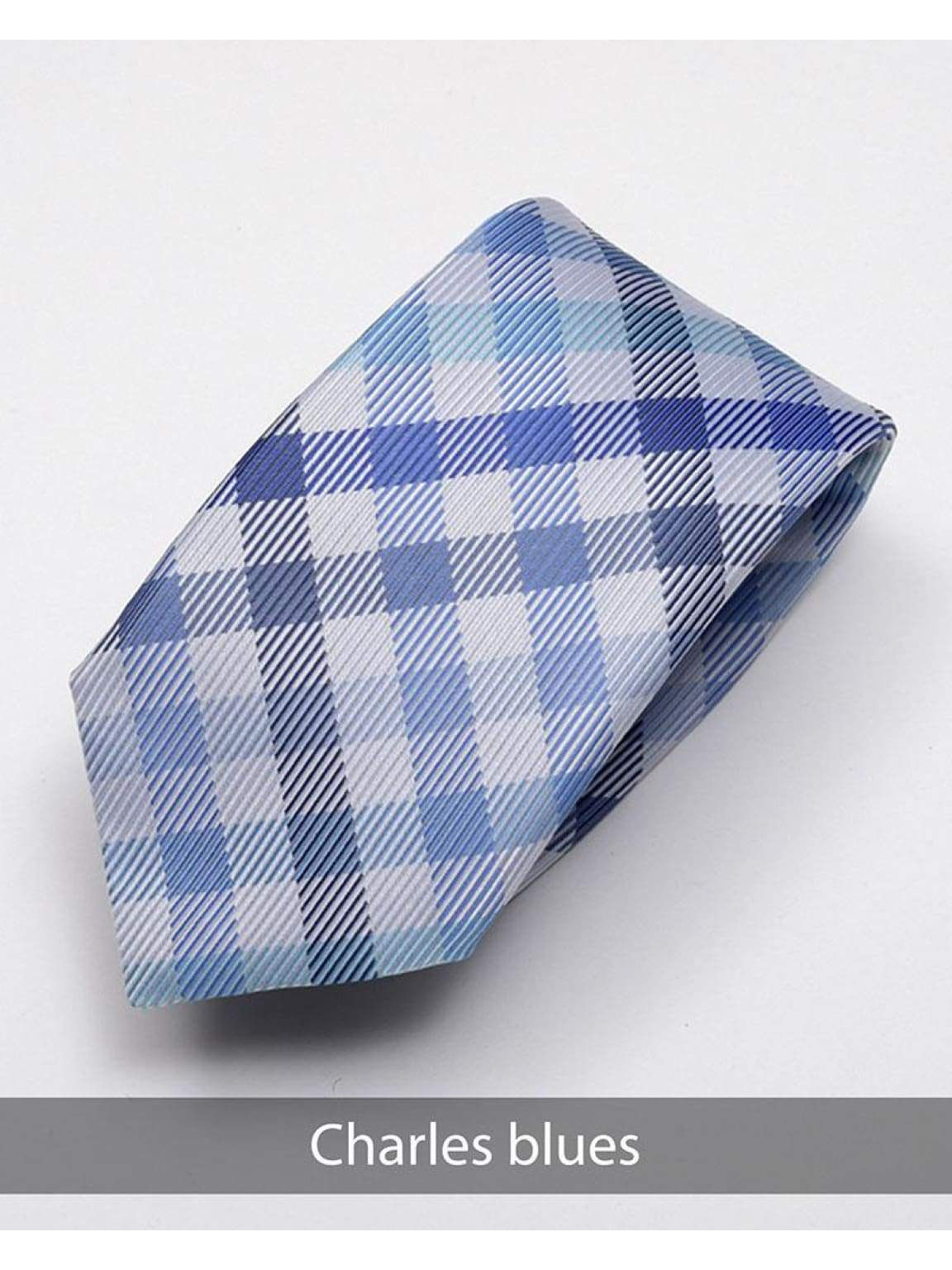 Heirloom Charles Mens Blue Stripped Tie - Accessories