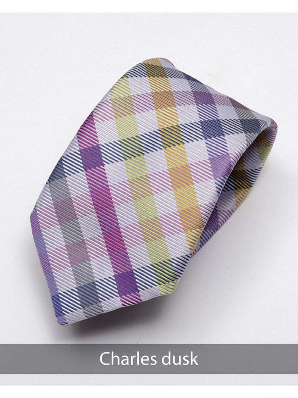 Heirloom Charles Mens Dusk Check Tie - Accessories