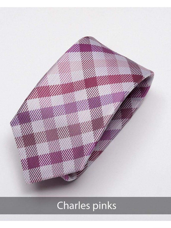 Heirloom Charles Mens Pinks Check Tie - Accessories