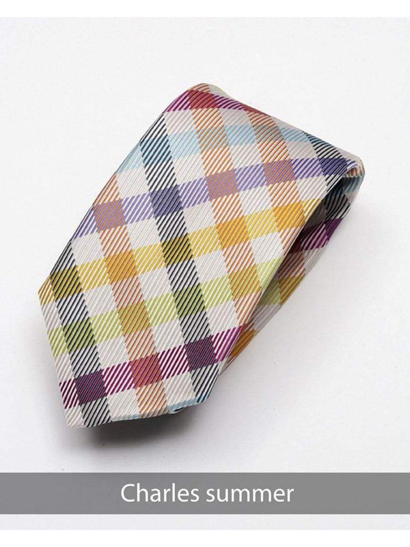 Heirloom Charles Mens Summer Check Tie - Accessories