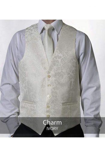 Heirloom Charm Ivory Luxury 100% Wool Tweed Waistcoat - 34R - WAISTCOATS