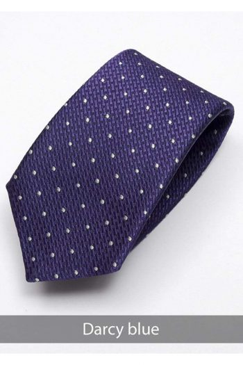 Heirloom Darcy Mens Blue Dotted Tie - Accessories