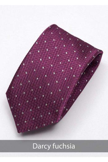 Heirloom Darcy Mens Fuchsia Dotted Tie - Accessories