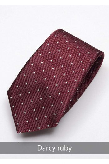 Heirloom Darcy Mens Ruby Dotted Tie - Accessories