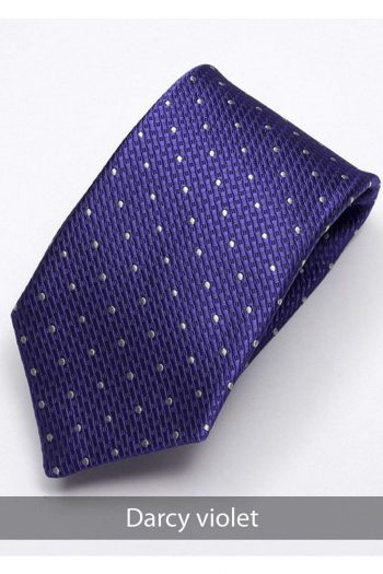 Heirloom Darcy Mens Violet Dotted Tie - Accessories