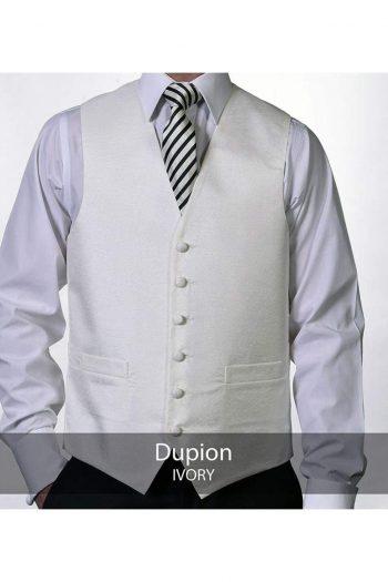 Heirloom Dupion Mens Ivory Luxury 100% Wool Tweed Waistcoat - 34R - WAISTCOATS