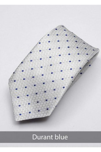 Heirloom Durant Mens Blue Dotted Tie - Accessories