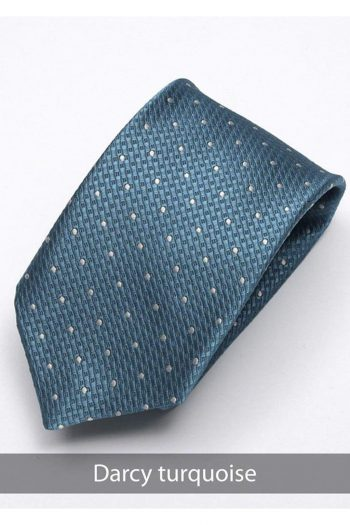 Heirloom Durant Mens Turquoise Dotted Tie - Accessories