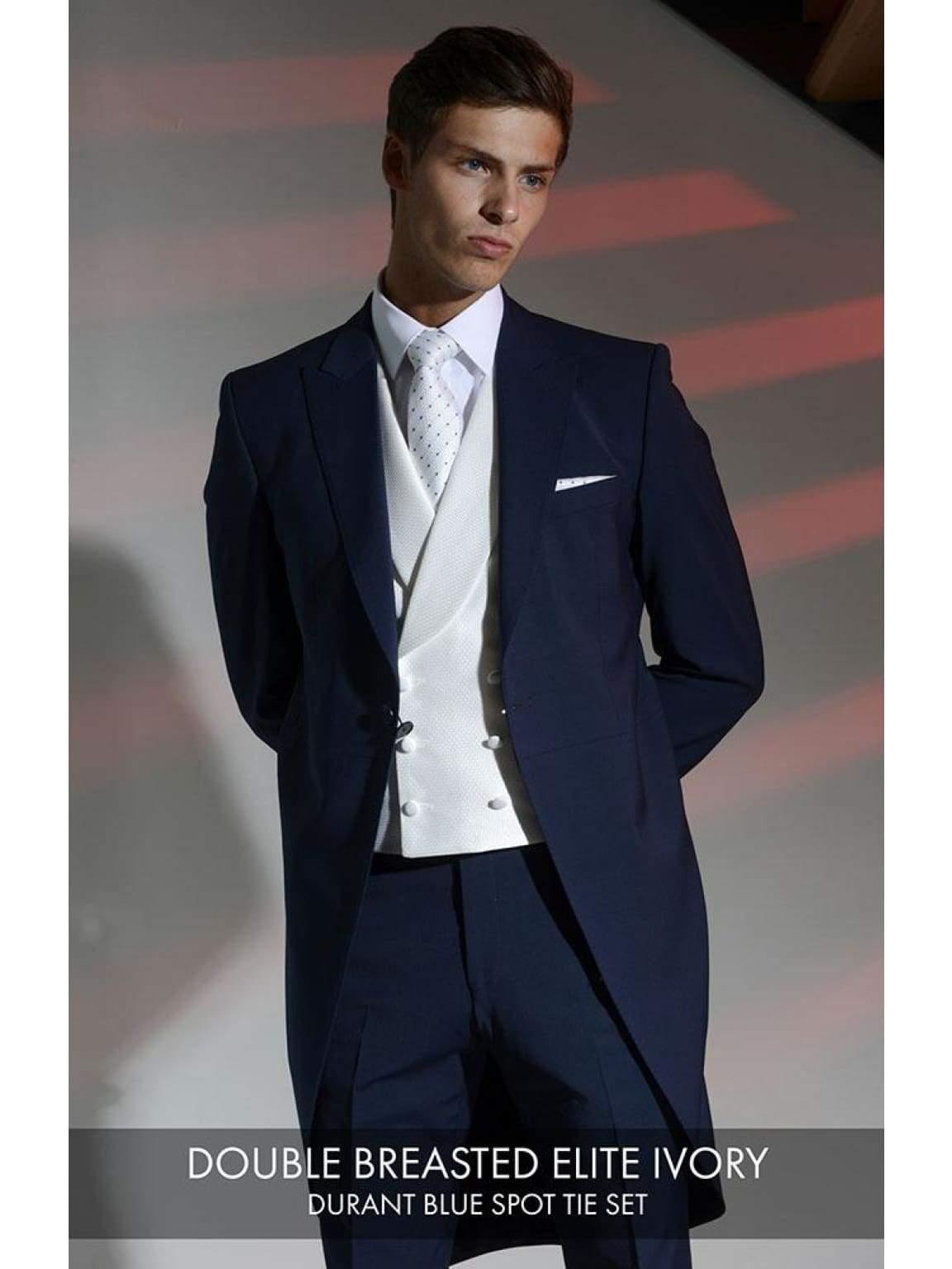 Heirloom Elite Mens Ivory Double Breasted Luxury 100% Wool Tweed Waistcoat - 34R - WAISTCOATS