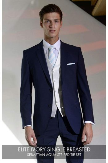 Heirloom Elite Mens Ivory Single Breasted Luxury 100% Wool Tweed Waistcoat - 34R - WAISTCOATS