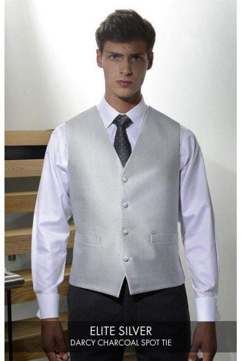 Heirloom Elite Mens Silver Luxury 100% Wool Tweed Waistcoat - 34R - WAISTCOATS
