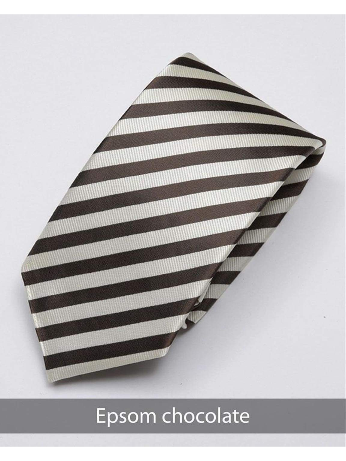 Heirloom Epsom Mens Chocolate Stripped Tie - Accessories
