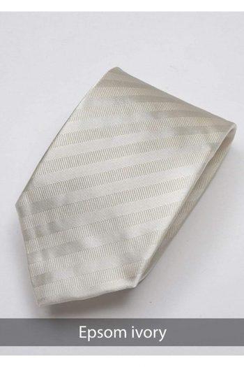 Heirloom Epsom Mens Ivory Stripped Tie - Accessories